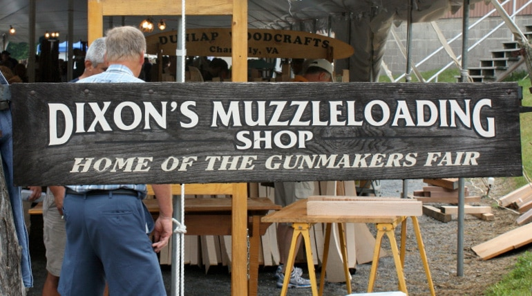 Dixons Muzzleloading sign